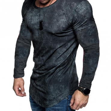 Lovely Casual O Neck Skinny Grey T-shirt