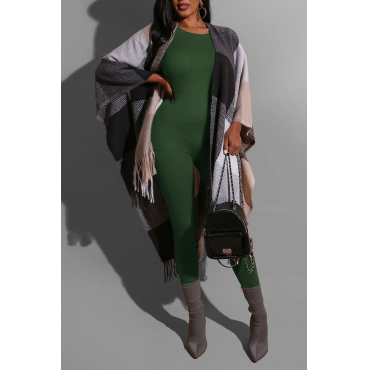 Lovely Chic Basic Skinny Green One-piece Jumpsuit