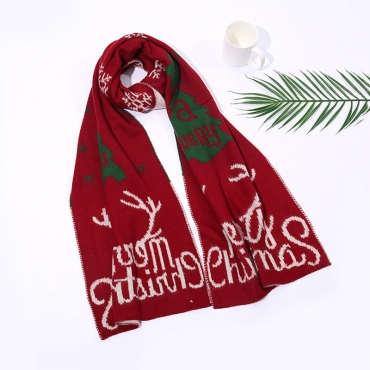 Lovely Christmas Day Christmas Deer Wine Red Scarves
