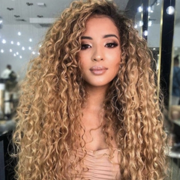 Lovely Chic Curly Gold Wigs