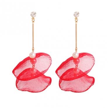 Lovely Chic Red Alloy Earring