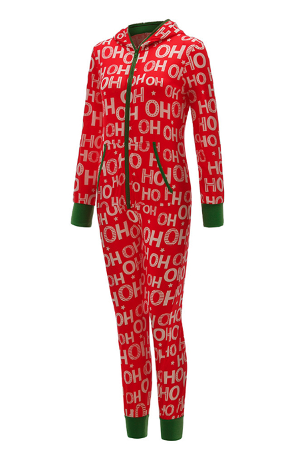 Lovely Casual Letter Red One-piece Jumpsuit