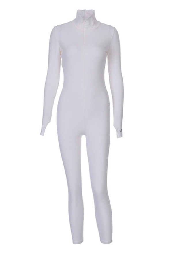 Lovely Trendy Skinny White One-piece Jumpsuit