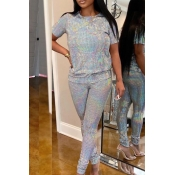 Lovely Party Basic Grey Two-piece Pants Set