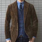 Lovely Casual Turndown Collar Brown Formal Wear