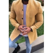 Lovely Basic Yellow Trench Coat