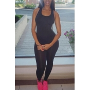 Lovely Casual Basic Skinny Black One-piece Jumpsuit