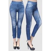 Lovely Casual Skinny Blue Leggings