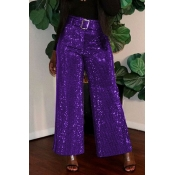Lovely Chic Loose Purple Pants