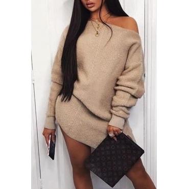 Lovely Chic Basic Khaki Mini Dress