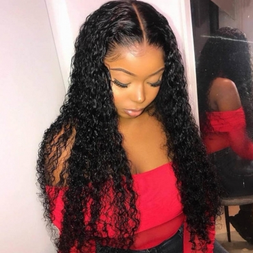 Lovely Street Curly Black Wigs