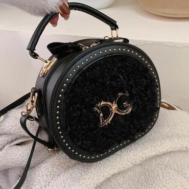 Lovely Casual Letter Black Crossbody Bag
