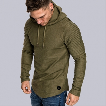 Lovely Casual Hooded Collar Ruffle Army Green Hoodie