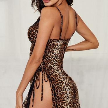 Lovely Sexy Leopard Leopard Babydolls