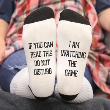 Lovely Trendy Letter White Socks