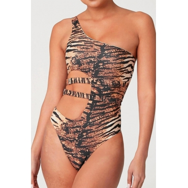 Lovely Tiger Stripes One-piece Swimsuit
