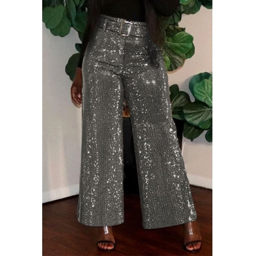 Lovely Chic Loose Silver Pants