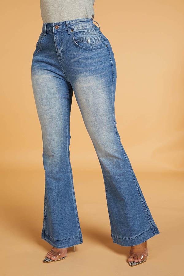 Lovely Work Flared Blue Jeans