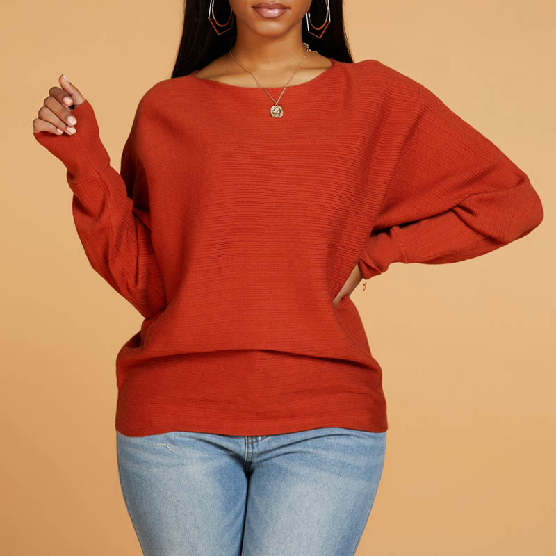 lovelywholesale / Cheap Sweaters & Cardigans Lovely Casual Basic Jacinth Sweater
