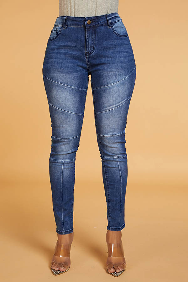 Lovely Chic Make Old Patchwork Blue Jeans