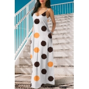 Lovely Casual Dots Printed Coffee Floor Length Dre