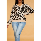 Lovely Chic V Neck Leopard Sweater