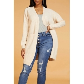 Lovely Casual Loose Apricot Cardigan