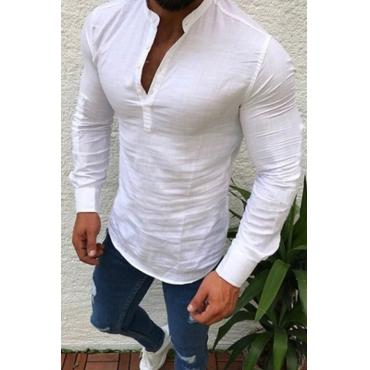 Lovely Casual Basic White Shirt