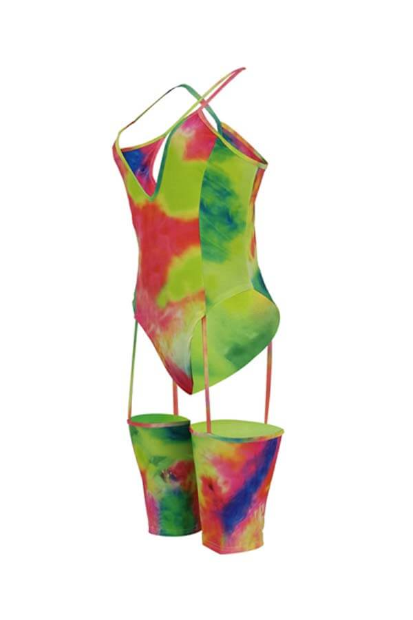 Lovely Sexy Hollow-out Multicolor One-piece Romper