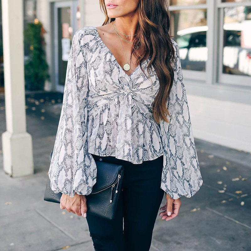 Lovely Sweet Print White Blouse