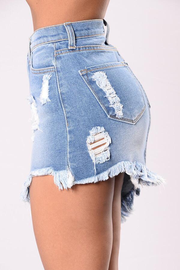 Lovely Chic Tassel Blue Skirt