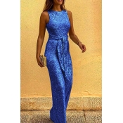 Lovely Chic Loose Blue One-piece Jumpsuit
