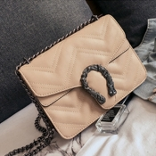 Lovely Trendy Chain Strap Light Coffee Crossbody B