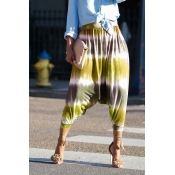 Lovely Chic Loose Print Yellow Pants