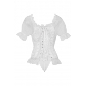 Lovely Vintage Lace-up White Intimates Accessories