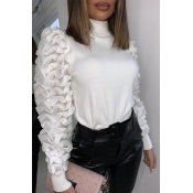 Lovely Sweet Turtleneck White Blouse