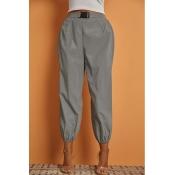 Lovely Sportswear Loose Silver Pants