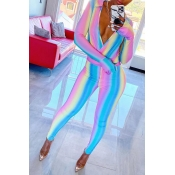 Lovely Casual V Neck Multicolor One-piece Jumpsuit