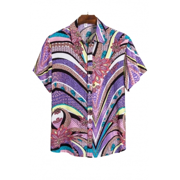 Lovely Chic Striped Print Multicolor Shirt