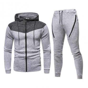 Lovely Casual Patchwork Light Grey Two-piece Pants Set