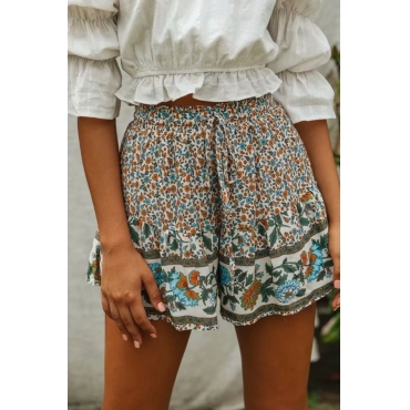 Lovely Stylish Print Loose Multicolor Shorts