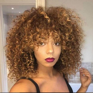 Lovely Chic Basic Curly Brown Wigs