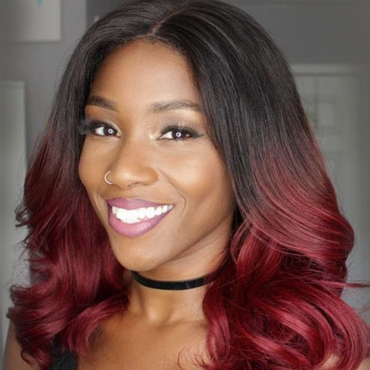 Lovely Leisure Curly Wine Red Wigs