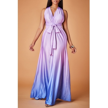 Lovely Trendy Loose Purple Evening Dress