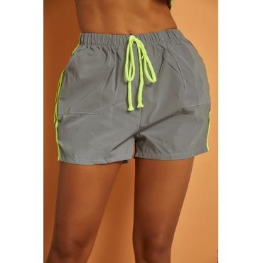 Lovely Sportswear Drawstring Green Shorts