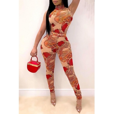 Lovely Trendy Hollow-out Red One-piece Jumpsuit