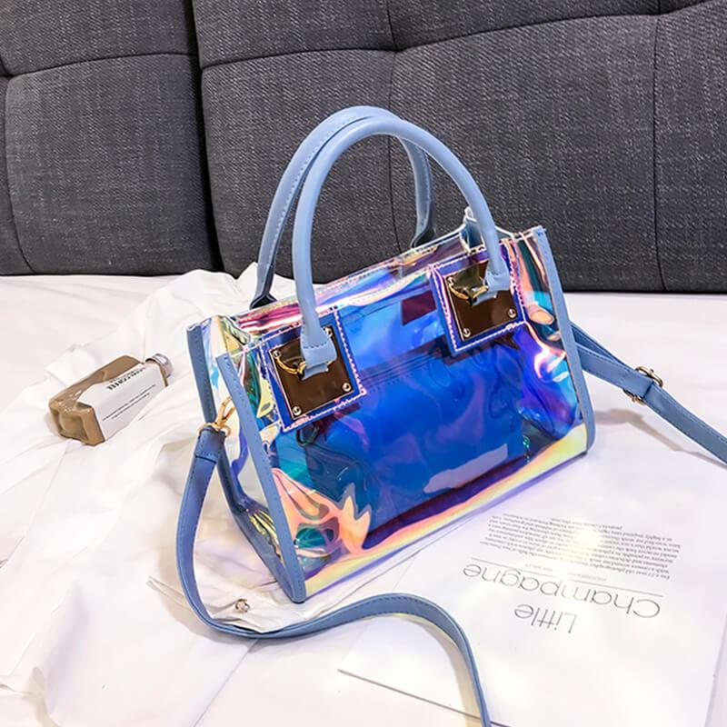 Lovely Trendy See-through Blue Messenger Bag
