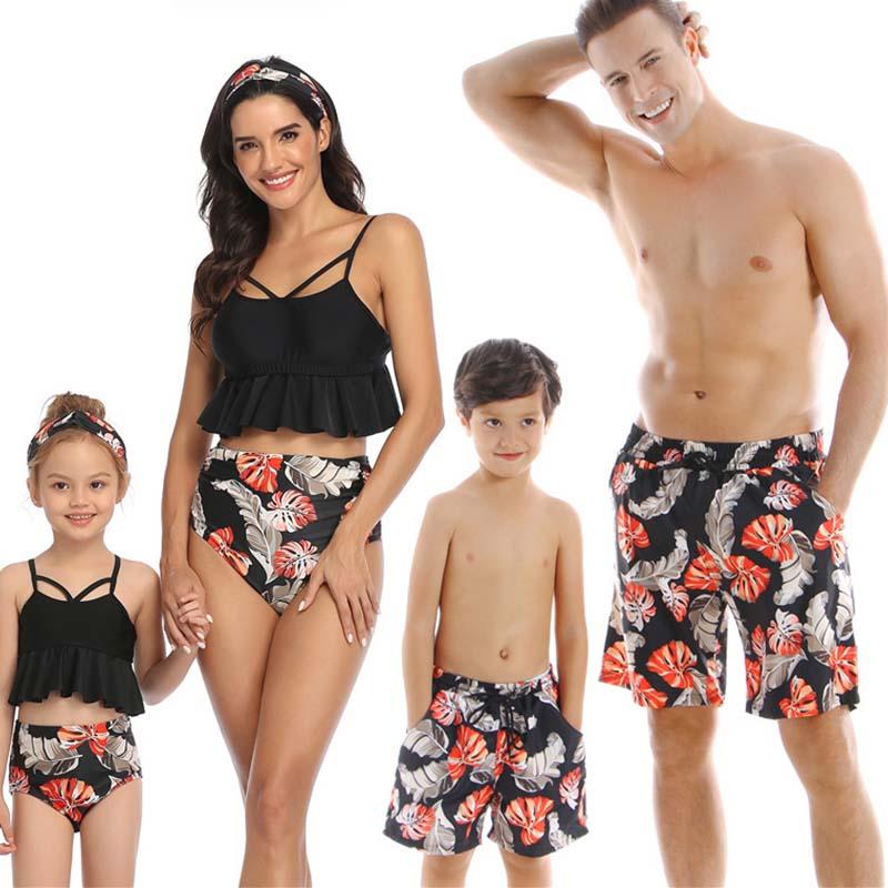 Lovely Trendy Print Black Shorts