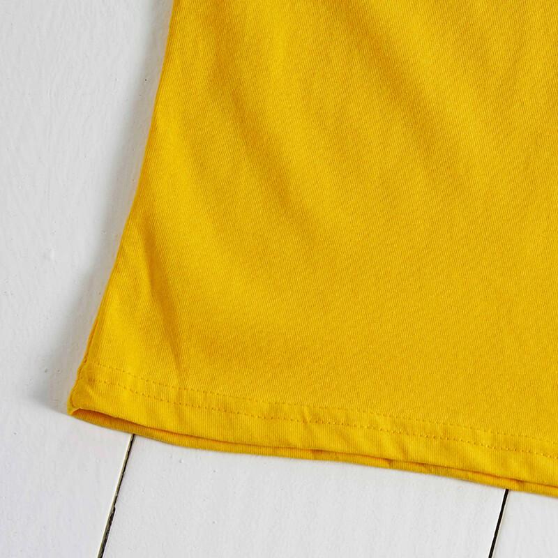 Lovely Leisure Letter Print Yellow T-shirt