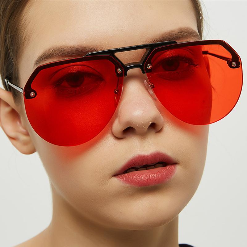 Lovely Chic Big Frame Design Red Sunglasses